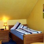 Betten 1-Zimmer-Apartment